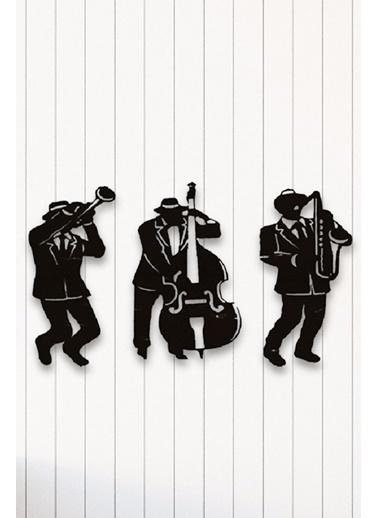 Angemiel Home Jazz Müzik Group Metal Duvar Tablosu Siyah